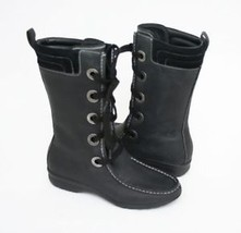 $200 COLE HAAN ~MARDI Leather LACE UP BOOT ~BLACK 5.5 B - $89.09