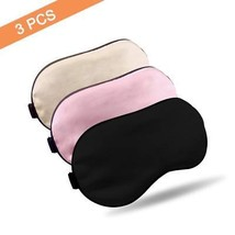 Travel Silk Sleep Eye Mask Adjustable Strap Napping Sleeping Blindfold S... - €9,63 EUR
