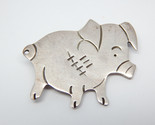PIG PIGLET Vintage Sterling Silver Brooch Pin - 1 5/8 inches - FREE SHIPPING