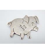 PIG PIGLET Vintage Sterling Silver Brooch Pin - 1 5/8 inches - FREE SHIP... - $60.00