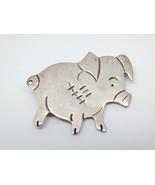 PIG PIGLET Vintage Sterling Silver Brooch Pin -... - $60.00