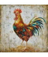 Rooster Hand-painted abstract art canvas oil painting home decor - $60.44 CAD