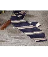 Vintage Tie / Designer Don Loper Beverly Hills Necktie / Navy Blue, Gold... - $16.00