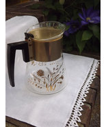 Gold Coffee Carafe, Large 6 Cup Beaker with Whe... - $16.00