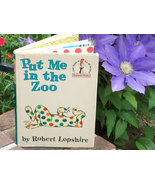 Children's Colorful Animal Book Put Me In The Zoo, Vintage 1960 Fun Book - $24.00