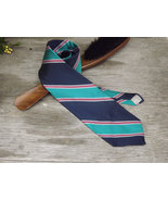 Vintage Tie / Designer Christian Dior Necktie / Teal, Blues, White, and ... - $24.00