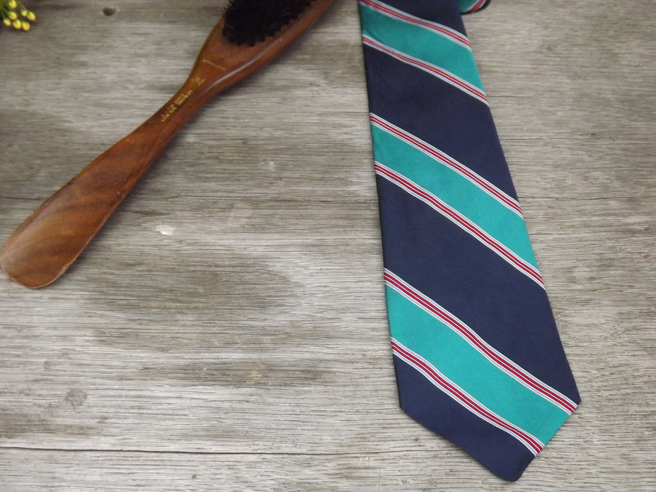 Vintage Tie / Designer Christian Dior Necktie / Teal, Blues, White, and Wine