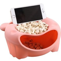 Hipat Snack Bowl with Shell Holder, Cute Bear Double Dish Nut Bowl With ... - $11.68