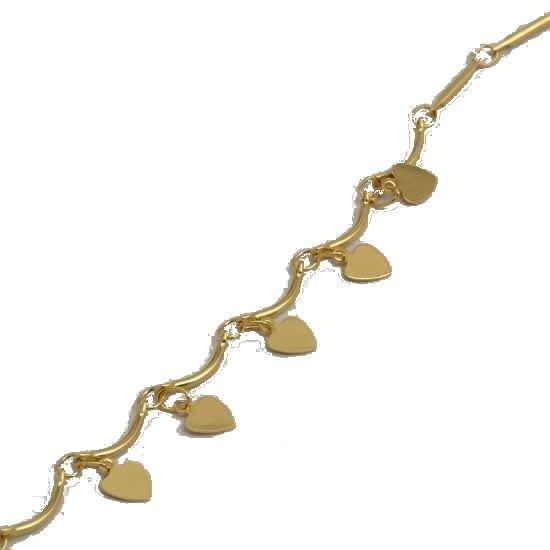 "14k Yellow Gold Filled Women's Charms Bracelet, (10.5"" inches)"