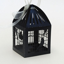 100pcs Bird Cage Black Wedding Gift Boxes,Laser Cut Wedding Favor boxes - $34.00