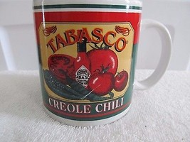 Tabasco Brand Creole Chili Peppers Hot Sauce Tomatoes Large Coffee Cup M... - $11.60