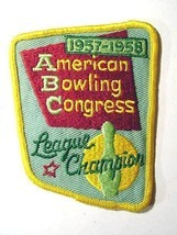 Patch american bowling congress vintage 1957 1958