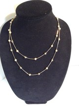 Charter Club gold tone fireball and smooth beaded necklace  #1435 - $12.20