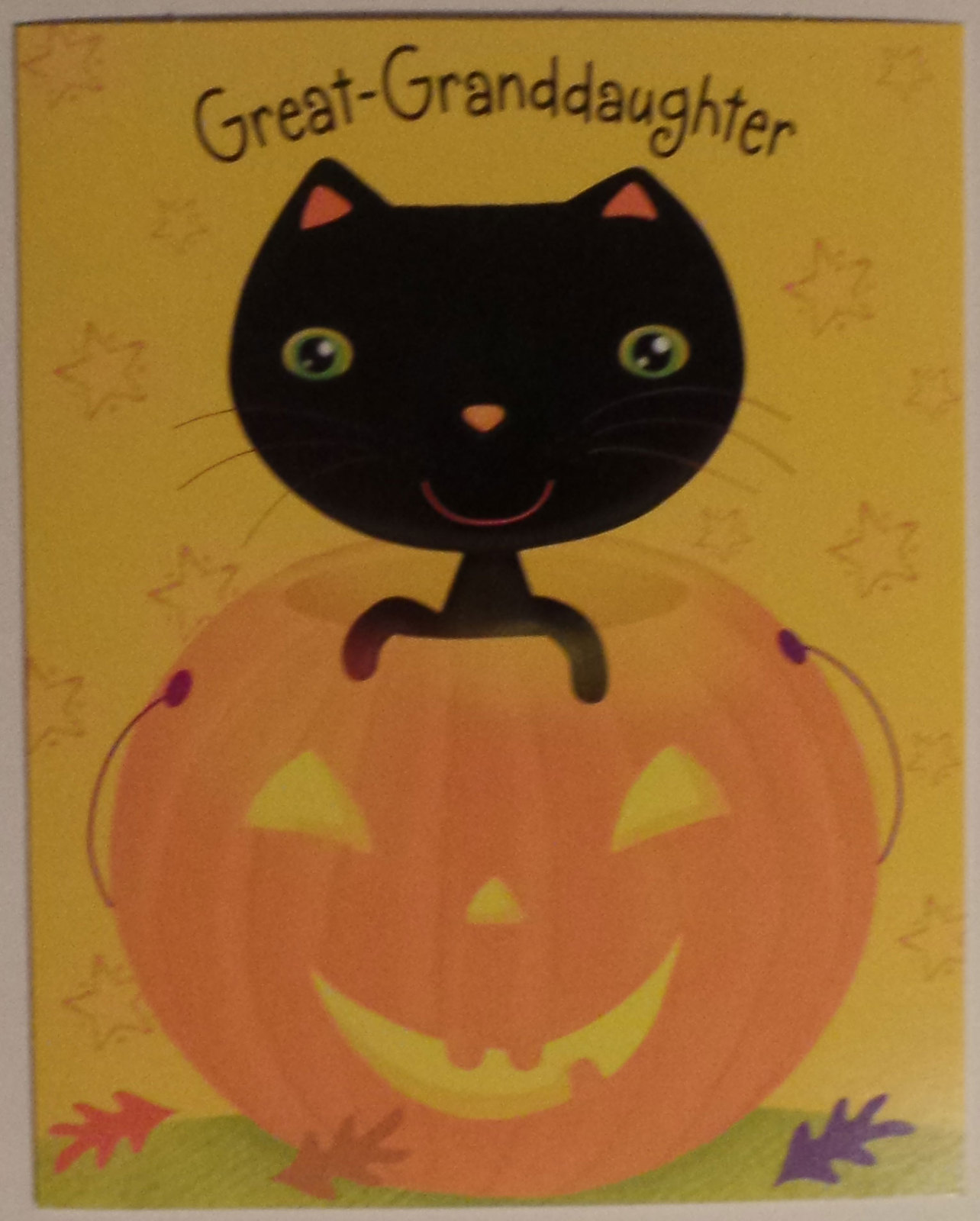 "Primary image for Greeting Halloween Card Great-Granddaughter ""Hope you have a treat-filled,..."""