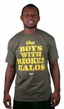 Crooks and Castles Broken Heiligenschein Olivgrün Gelb T-Shirt