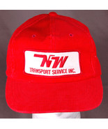 Vtg Northwest Transport Service Trucker Hat-Red-Patch-Corduroy-Snap Back... - $28.04