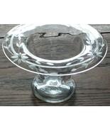 Glass Wedding Vase, Flower Vase, Wide Rimmed, Etched Vintage Vase - $44.00