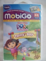 Vtech MobiGo Touch Learning System Game-Dora the Explorer Twins' Day-NEW - $9.99