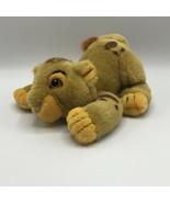 Vintage Disney World Lion King Cub Baby Simba Pouncing Plush Stuffed Toy - $17.81