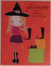 "Greeting Halloween Card Granddaughter ""Granddaughter with Passion for fa... - $1.50"