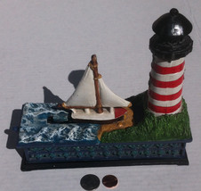 Vintage Cast Iron Mechanical Bank, Sailboat and... - $40.00