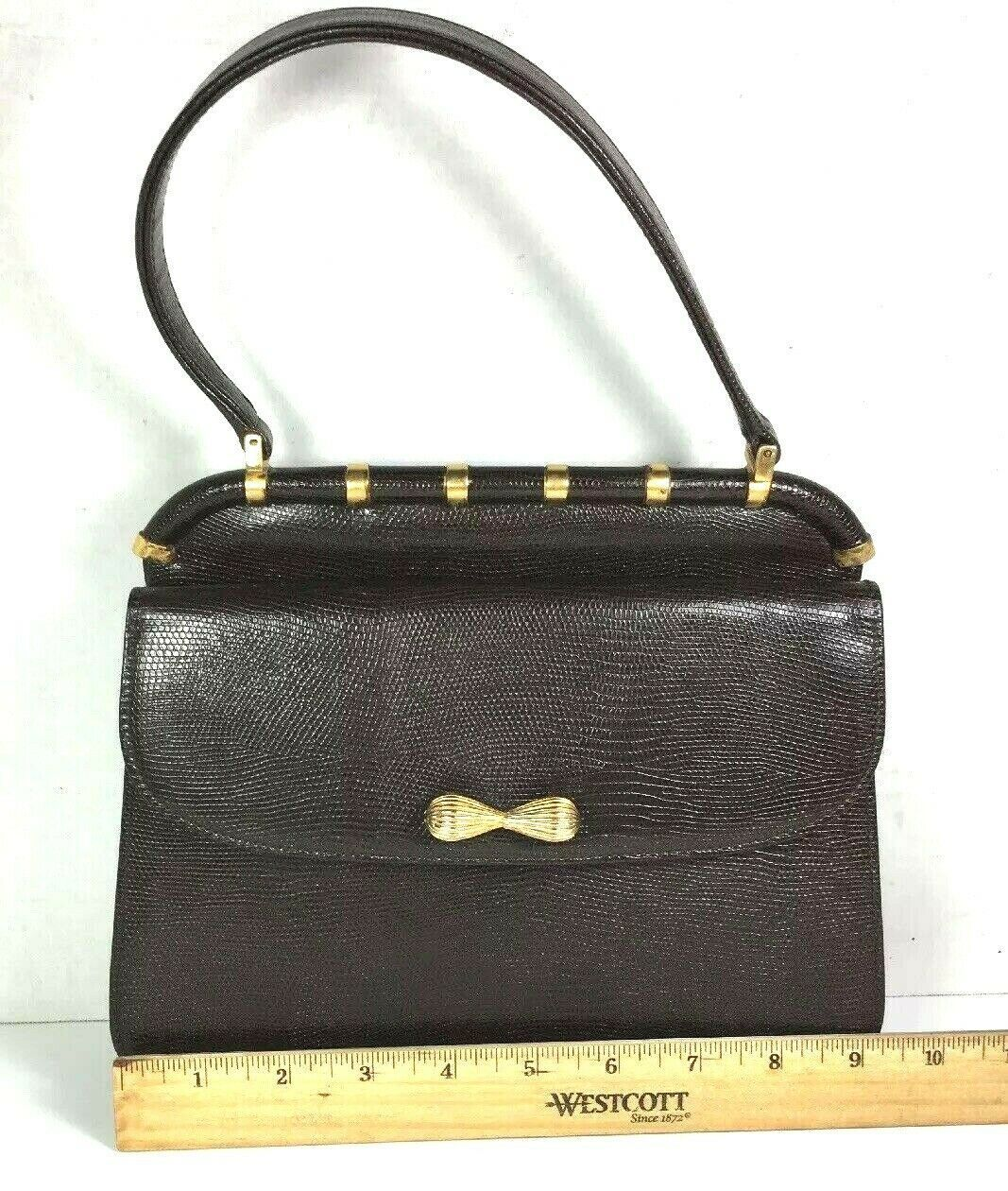 Saks Fifth Avenue True Vintage Small Brown Leather Handbag with Coin Purse