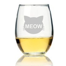 Cats Meow Stemless Wine Glass - $9.99