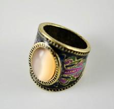 Hot Fashion Faux Gem Centered Women's Vintage Cocktail Ring(Orange) - $7.39