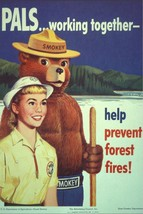 SMOKEY BEAR POSTER | 24 x 36 INCH | WORKING TOGETHER - $18.99