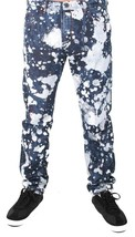 Versace Jeans Blue Bleached Denim White Paint Orange Speckle XXX Pants NWT image 1