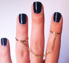 Stylish Double Rings with Chain for Women - $6.99