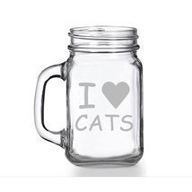 I Love Cats Mason Jar Mug - $9.99