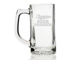 Champion Beer Drinker Engraved Glass - $12.95
