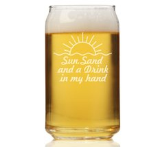 Sun Sand And A Drink In My Hand Can Glass - $9.95