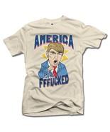 AMERICA YOU'RE FFF**KED! FUNNY ANTI-TRUMP SHIRT 3X Natural Men's Tee (6.... - $20.79