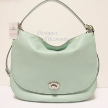 COACH Seaglass Leather Turnlock Hobo Shoulder B... - $155.00