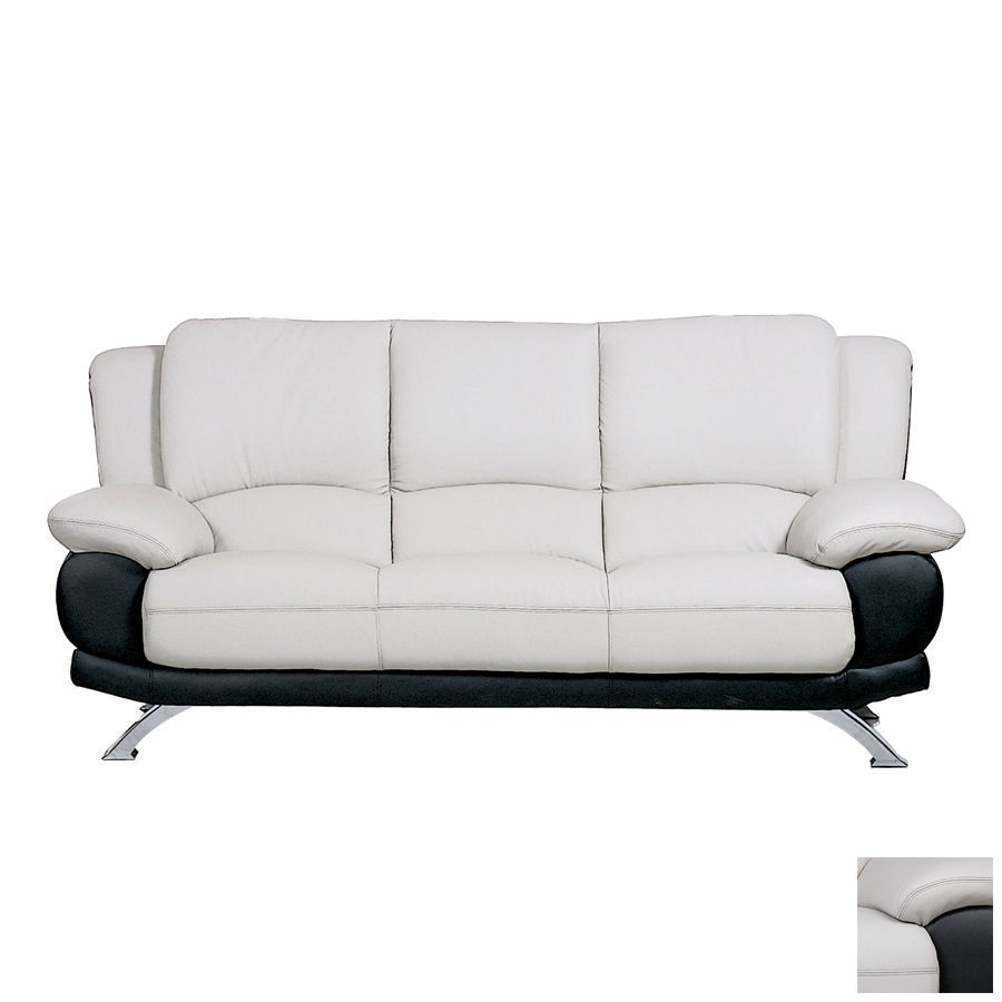 BH 117 Living Room Sofa Set 2pc. Top Grain Leather Transitional Style