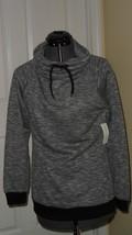 Bobbie Brooks Knit Top Shirt Size L Black Nwt - $15.19