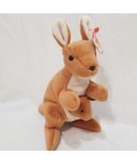 """Pouch Kangaroo Joey 1996 Ty Beanie Babies Plush Stuffed Animal 7"""" Brown - $9.99"""
