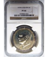 1974 S Eisenhower IKE NGC PF 66 SILVER Dollar B... - $132.39 CAD