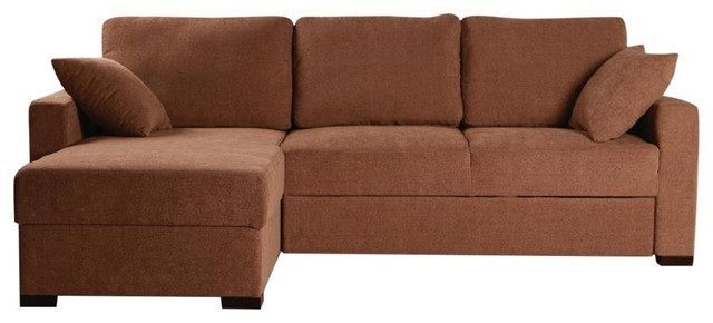 BH Incognito Cocoa Sectional Sofa Storage Left Hand Chaise Transitional Style