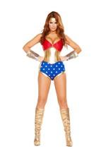 Sexy Roma Mighty Comic Super Hero Wonder Woman Halloween Costume W/WO CU... - $63.00+