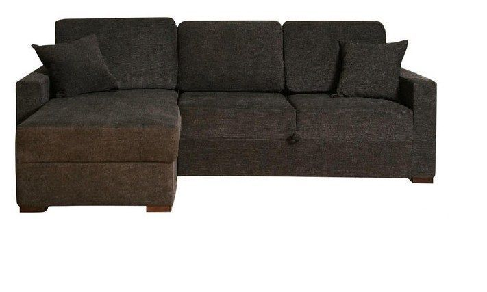 BH Incognito Graphite Sectional Sofa Storage Left Hand Chaise Transitional Style