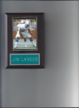 Jim Langer Plaque Miami Dolphins Football Nfl - $2.23