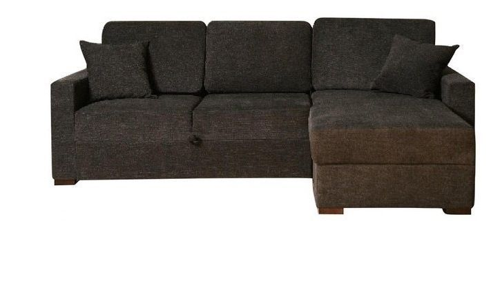 BH Incognito Graphite Sectional Sofa Storage Right Chaise Transitional Style