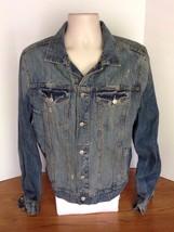 Aeropostale Womans Blue Jean Distressed Jacket Size Large L - $38.69