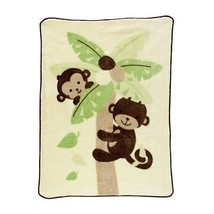 Lambs & Ivy Bedtime Originals Blanket Snuggly Soft Monkey Cozy Warm Flee... - $73.77 CAD