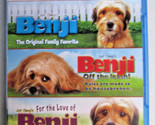 BENJI Triple Feature (Benji, Off the Leash, For the Love of) Blu Ray FREE SHIP