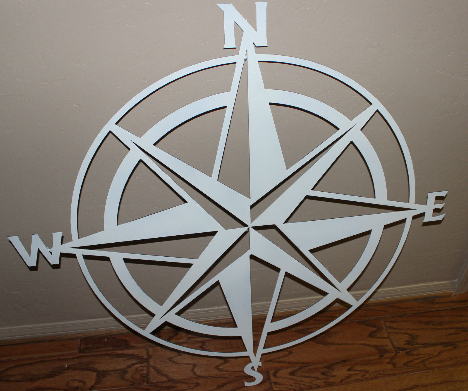 nautical compass rose wall art decor 26quot white gloss With kitchen colors with white cabinets with compass rose outdoor wall art