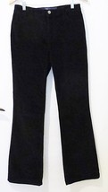 Not your daughters jeans NYDJ womens black velvet pants size 4 straight - $28.70